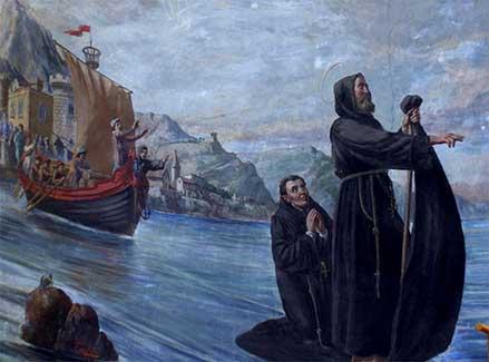 San Francesco di Paola attraversa lo stretta di Messina