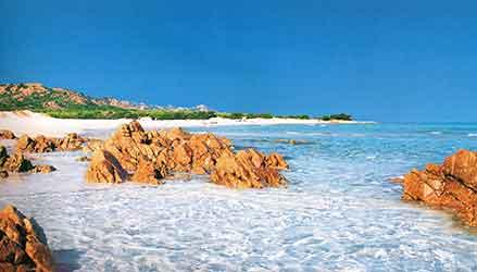 La spiaggia di Bidderosa a Orosei