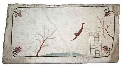 Affresco della Tomba del Tuffatore a Paestum